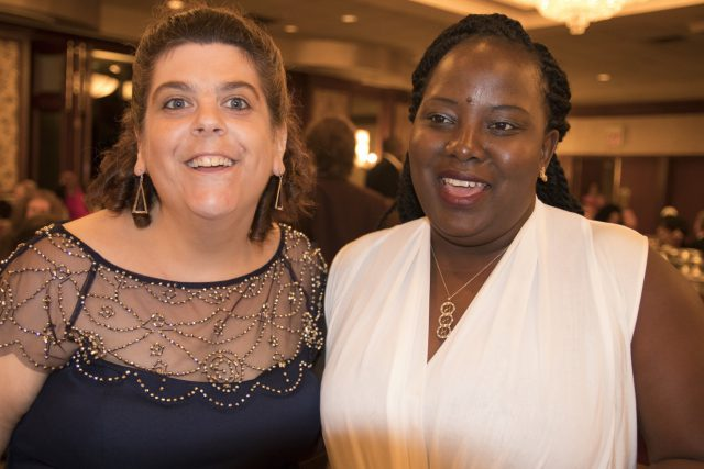 Following the fire, HeartShare staff helped five ladies with intellectual and developmental disabilities adjust to the reality of losing their home and personal belongings. While at Hampton Inn, staff still brought the ladies shopping for new dresses to enjoy a night out at HeartShare Residential Services Dinner Dance on September 19, 2016, which was a welcome distraction considering recent circumstances.
