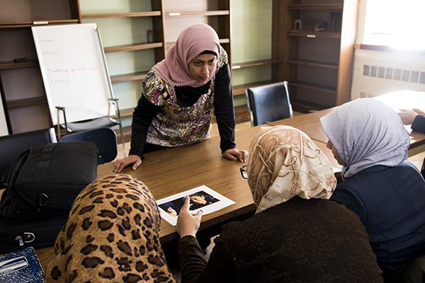 In partnership with the Mayor's Office of Immigrant Affairs, HeartShare is offering a conversational English course to Arabic-speaking women, who are both parents of HeartShare pre-school students, as well as from the local Bensonhurst community.